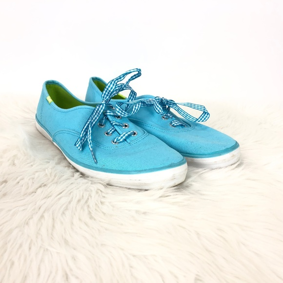 Keds Light Blue Canvas Laceup Sneakers